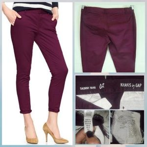Gap skinny mini khakis plum